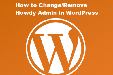 How to Change or Remove 'Howdy Admin' in WordPress (Easy Way)